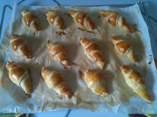 Mini croissants au saumon