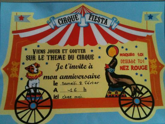 Invitation Cirque